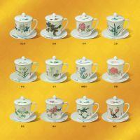 醴陵窑釉下五彩瓷杯高端瓷器礼品陶瓷私人订制十二系列茶杯常委杯老板杯碟定制