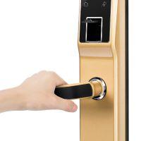 诺克威A61家居智能锁 直板式指纹密码锁厂家供应