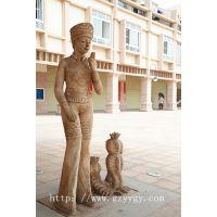 东南亚风格人物民族文化人物石雕 民俗风情少女雕塑 高档小区专用艺术人像摆件