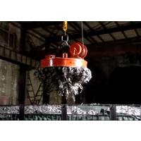 厂家直销 电磁吸盘 高频强磁 圆型废钢起重电磁铁吸盘起吊、搬运