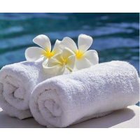辉腾公司供应酒店白色纯棉毛巾 擦手毛巾 可定做绣LOGO