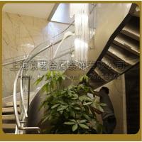 供应京艺酒店楼梯发光楼梯精品玻璃楼梯定制