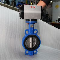 D671X-10C 气动对夹软密封蝶阀 D671X 铸钢对夹蝶阀 D671J 给水