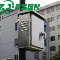zjfsen室外304不锈钢配电箱光伏并网箱户外上下门电表箱计量箱防水控制箱