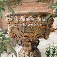 欧美玻璃钢复古花盆 纤维玻璃钢花盆 厂家价格