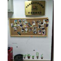 肇庆挂式水松板E梅州单面木框水松板R惠州照片墙定制组合