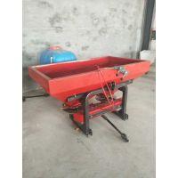 双盘单箱撒肥机55马力四轮拖拉机带的撒肥机施肥器农业施肥机械