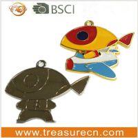 金属沙点点漆创意小鱼钥匙扣 可以定制尺寸设计logo 温州苍南工厂
