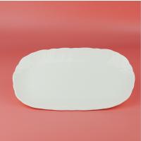 浩新瓷业厂家供应骨质瓷鱼盘 骨瓷浮雕鱼盘 家用专用盘