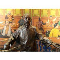 铸铜人物雕塑批发东莞雕塑厂家定制古代店铺人物雕像城市主题文化街摆件