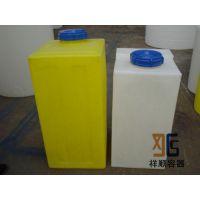 100L长方形塑料水箱 100升pe方水罐 100公斤有盖子的备水箱