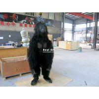 2017新品黑猩猩服装道具厂家|仿真动物皮套