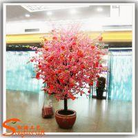 商场新年装饰仿真桃花树 定做粉色许愿树 桃花树价格