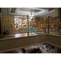 铜艺雕刻楼梯扶手 定做纯铜楼梯扶手就到佛山众钰