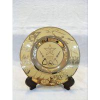 石家庄专业金属纪念品订做保定锌合金工艺品纪念盘制作厂家