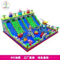 江苏常州广场儿童蹦蹦床,小猪佩奇充气城堡一直在热搜榜深受喜爱