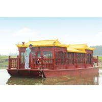 古舟木船供应豪华画舫船 水上餐饮船 旅游观光船 仿古木船