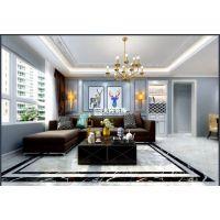 大树装饰 保利城三室高格调灰色系 美式风格