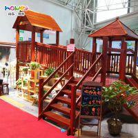 【幼儿园木质滑梯】幼儿园实木滑梯组合儿童户外大型游乐设施定制