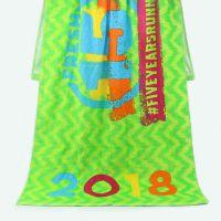 厂家供应 外贸纯棉沙滩巾割绒满面活性印花沙滩浴巾两用 来图定制