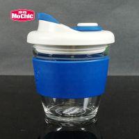 咖啡杯厂家定制透明玻璃杯水杯子带盖密封防漏随手咖啡杯礼品定制