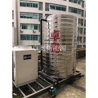 江苏卓奥为常州府深广场安装5匹奥栋空气能热水器