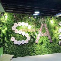 梦幻城堡植物背景墙草坪绿化墙体地毯草皮假叶子挂墙绿植工程装饰绿色