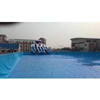 可移动水上乐园设施水池 游乐园水池水滑梯游玩设施 支架水池充气水池水乐园
