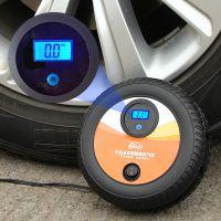 12v便携式汽车打气泵应急轮胎数显车载充气泵智能预设测胎压批发