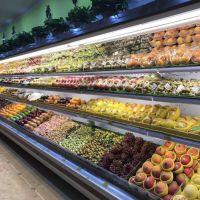 【水果超市专用风幕柜】果蔬保鲜风冷展示柜