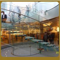 供应京艺直线式旋转式光纤工程发光楼梯不锈钢实木铝合金定做楼梯