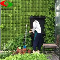 毛毡种植袋 厂家直销毛毡立体壁挂式种植袋 定做阳台种植袋