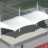 上海汽车棚安装 厂家定做pvdf膜结构汽车停车篷 户外轿车停车遮阳篷