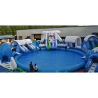 支架水池水上乐园游泳池,水上乐园滑梯,充气水池滑梯组合飞豹游乐