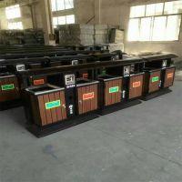 河北新款钢木垃圾桶图片 分类垃圾桶 厂家批发