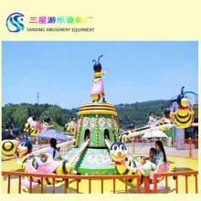 旋转类游乐设备有哪些好玩的 旋转蜜蜂是一款非常受游客喜爱的广场游乐设备