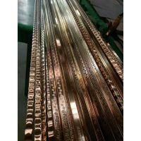201不锈钢玫瑰金压花管异型管价格型号