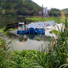 景区小型打捞水草设备 全自动水葫芦收割船供价