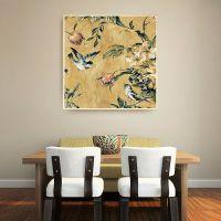 新中式装饰画 家居沙发背景墙花鸟鱼虫挂画 客厅有框现代简约壁画