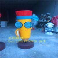 户外幼儿园玻璃钢卡通铅笔雕塑 名图玻璃钢造型雕塑厂家