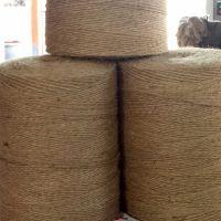 捆扎绳黄麻绳专业厂家生产供应各类规格包装打捆绳结实耐用黄麻纱线