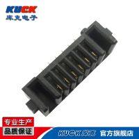 笔记本电池座连接器A01F母座 6Pin 单面镀金2mm间距带柱