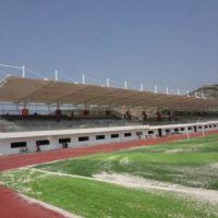 定做学校膜结构建筑体育场看台雨篷设计PVDF张拉膜运动场看台膜结构