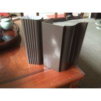 供应北京彩铝钢板落水系统成品外排水系统方形雨水管檐槽天沟