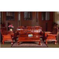 花梨木家具大果紫檀红木客厅沙发组合国标象头沙发明清古典