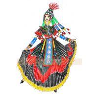 彝族舞蹈服装定制,演出服装定制,民族服装设计——艺晨舞悦
