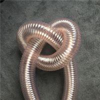 厂家直销大量聚氨酯PU钢丝伸缩管耐高温PU钢丝通风除尘管