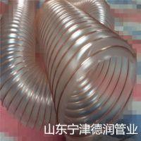 PU钢丝伸缩软管125*0.6mmPU聚氨酯风管透明吸尘管通风排气管