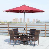 南京藤编家具,户外桌椅价格,室外编藤桌椅