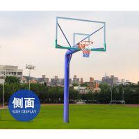 南宁篮球架 户外成人标准地埋篮球架 配钢化玻璃篮板 蓝色圆管